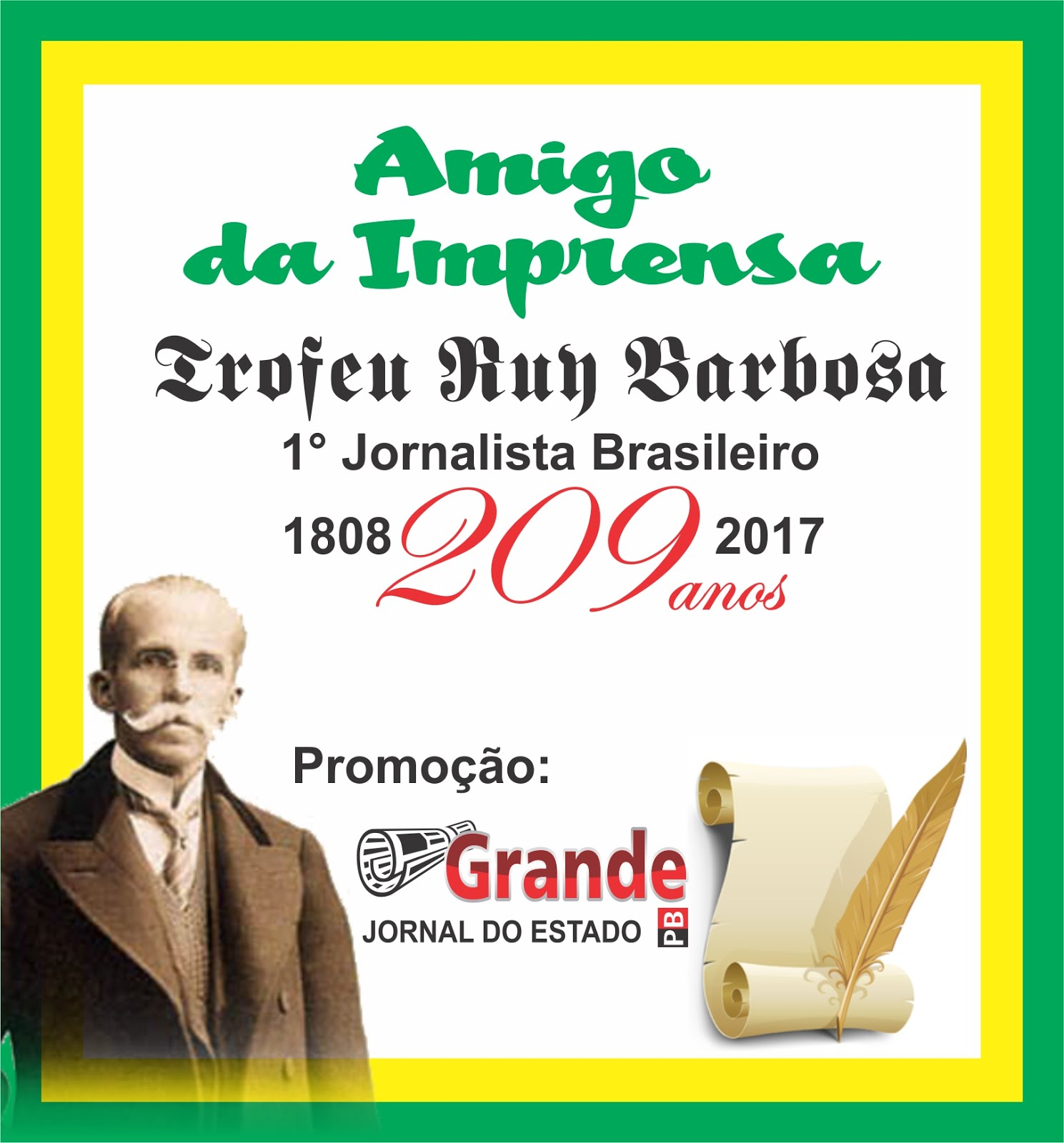 TRÓFEU O AMIGO DA IMPRENSA  BRASILEIRA