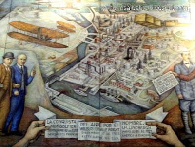 El bable la conquista del aire por el hombre el mural de for Mural de juan o gorman