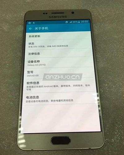 Samsung galaxy A5 - A5100-2016