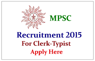 Maharashtra Public Service Limited Recruitment 2015 for the post of Clerk-Typist