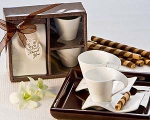 Swish Espresso Cup Set with Cookie Saucer