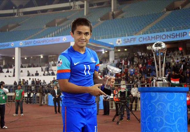 Sunil Chhetri was declared 'AIFF Player of the Year' for the third time