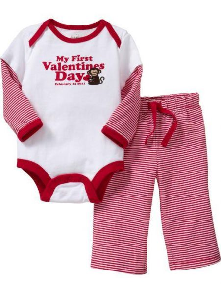 My First Valentines Day Baby Clothes My 1st Valentines Day Onesies