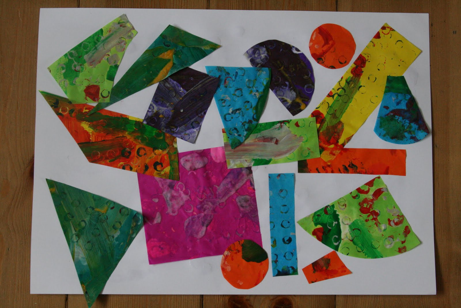 Eric carle tissue paper prints the imagination tree for Paper art projects