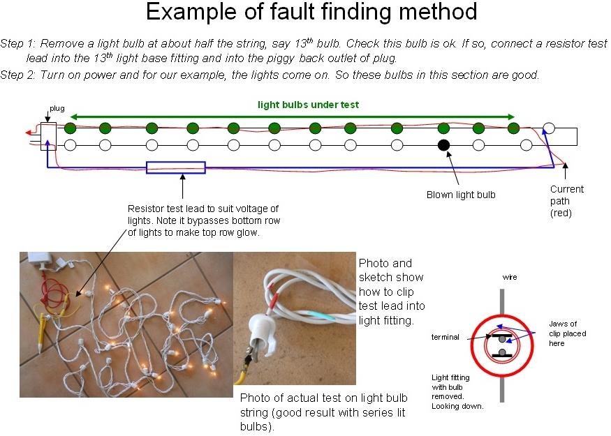 DIY Christmas lights: Repair - Multi-purpose Fault finding method
