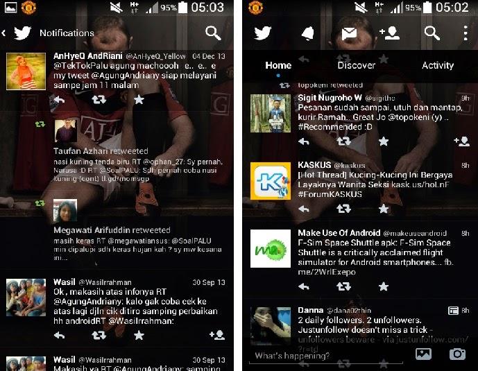 Download aplikasi Twitter Mod Transparan untuk android Apk