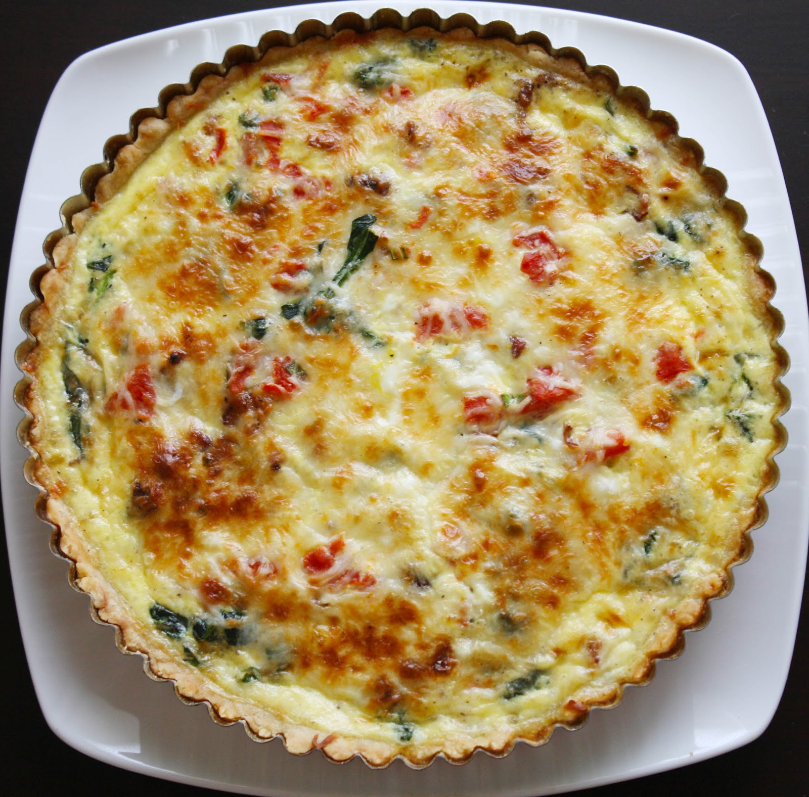 Spinach Bacon Quiche | *SkinnyMinhy's Adventures in Food ...
