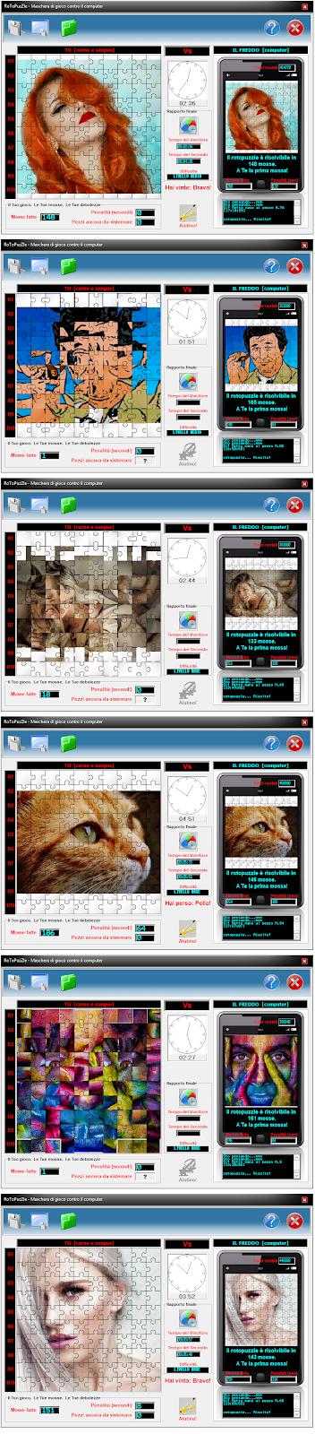 <b>Trasforma le tue foto in <i>rotopuzzle</i> giocabili e prova a risolverli prima del PC!</b>