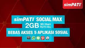 SimPATI Social Max, Beri Akses Gratis 5 Aplikasi Sosial