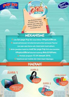 Info Kontes - Kontes #My2016Plans Berhadiah Lenovo Tab2, Headphone, Uang tunai 250K dan Goodiebag