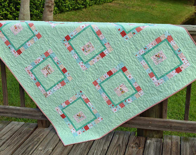 vintage and modern patchwork quilt by Tessa Marie