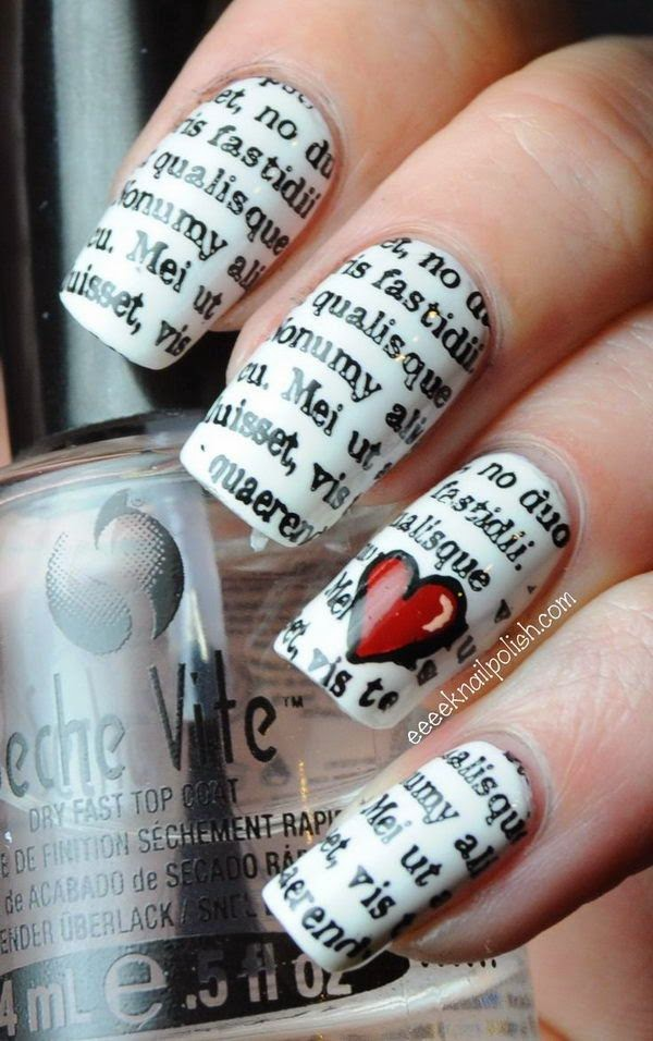 Cool Newspaper Nail Art Ideas,