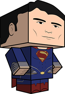 Man of Steel Papercraft Toy (Superman)