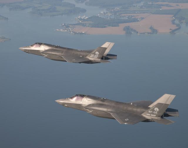 F-35 JSF formation flight