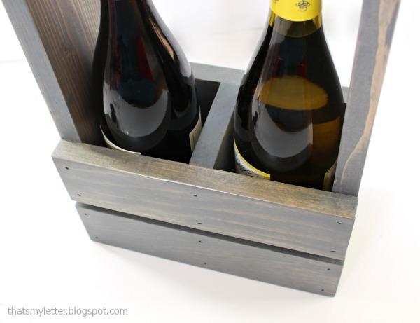 diy wine tote for 2 bottles