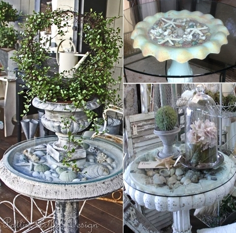 make table with birdbath