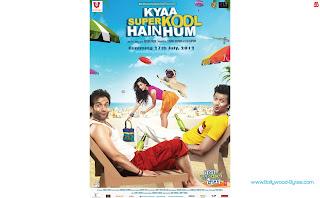 Neha Sharma, Sarah-Jane Dias on the beach with Tusshar Kapoor, Riteish Deshmukh High Definition Kyaa Super Kool Hain Hum  Wallpaper