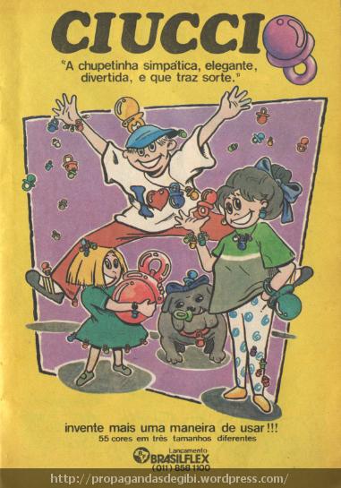 Chupetinhas de plástico que fizeram a moda das crianças nos anos 90. Propaganda de 1993.