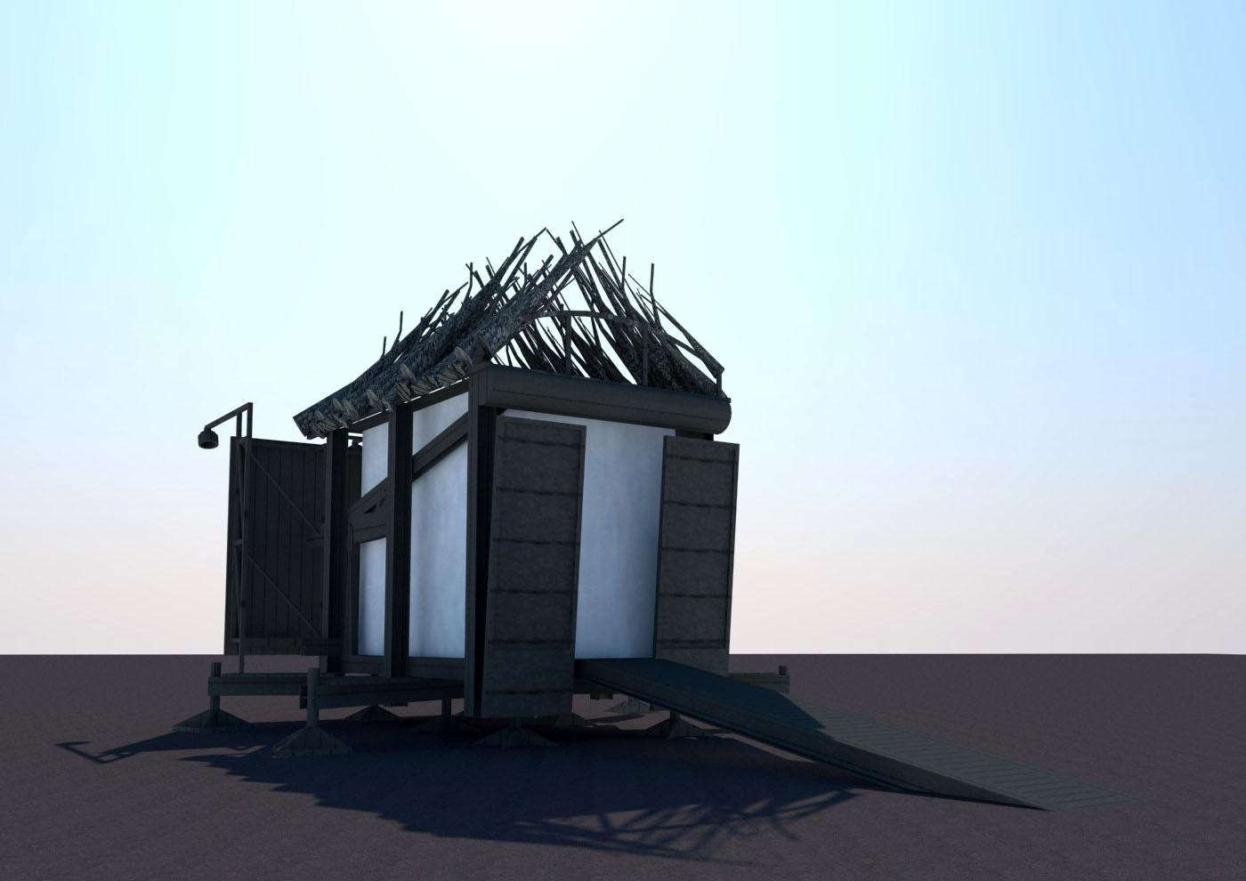 essay on architecture primitive hut