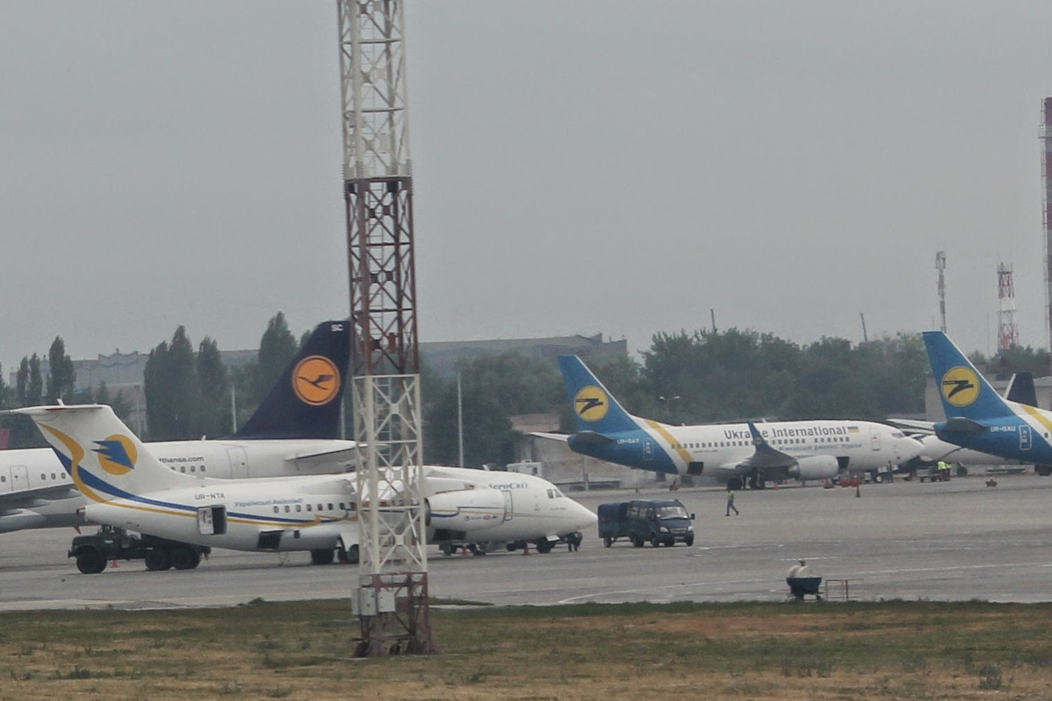 Kiev Airport Lufthansa Ukraine Airlines Aerosvit