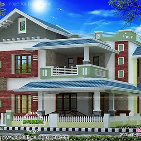 Kerala Style House Elevation Malappuram together with Budget Home Design With Interior Photos moreover 2599 Sq Ft Kerala Modern House Design as well 2075 Square Feet 4 Bedroom Home furthermore Modern Contemporary Kerala Home Design. on 3 bed room contemporary slop roof house