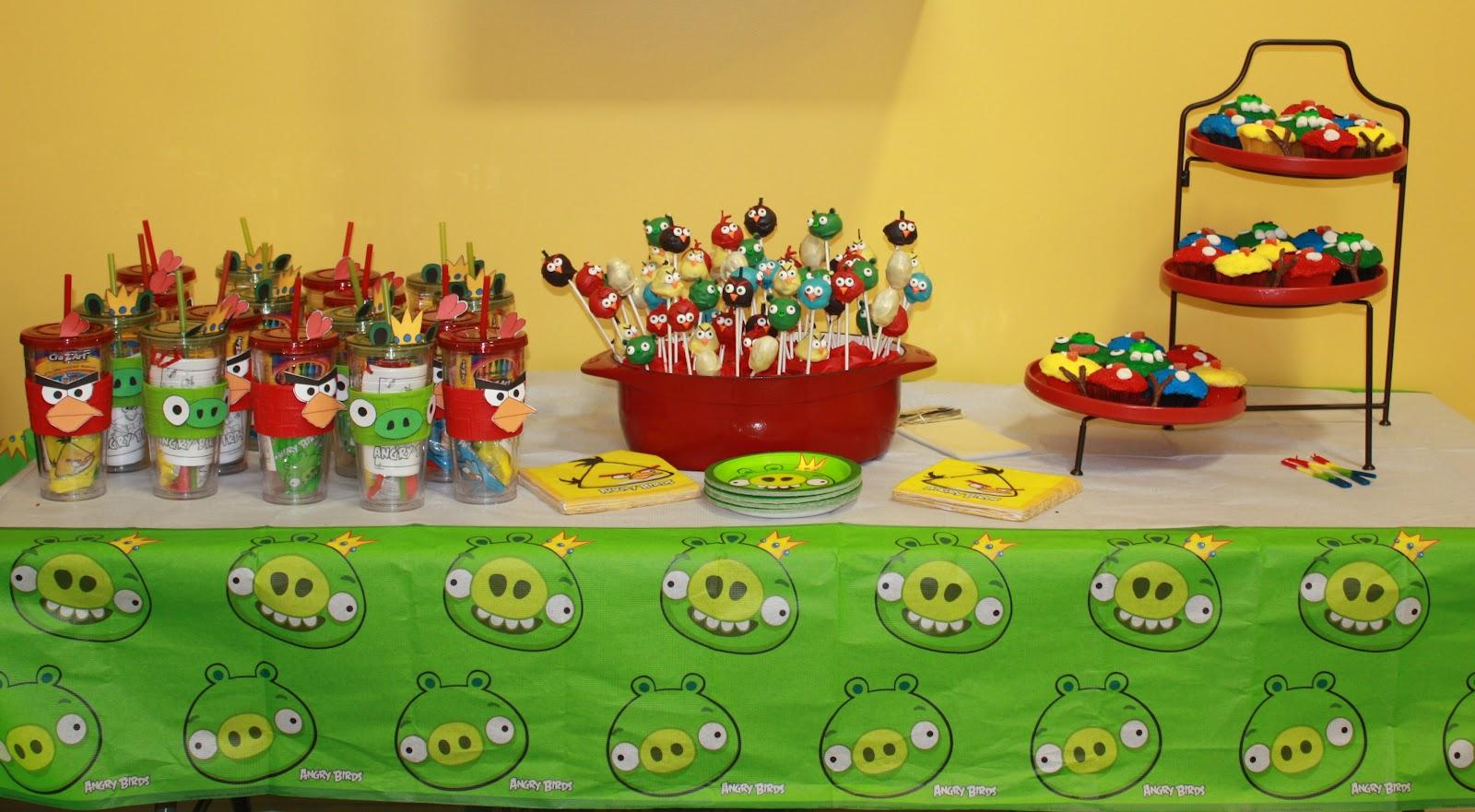 Mom Swim Bike Run Angry Birds Birthday Party