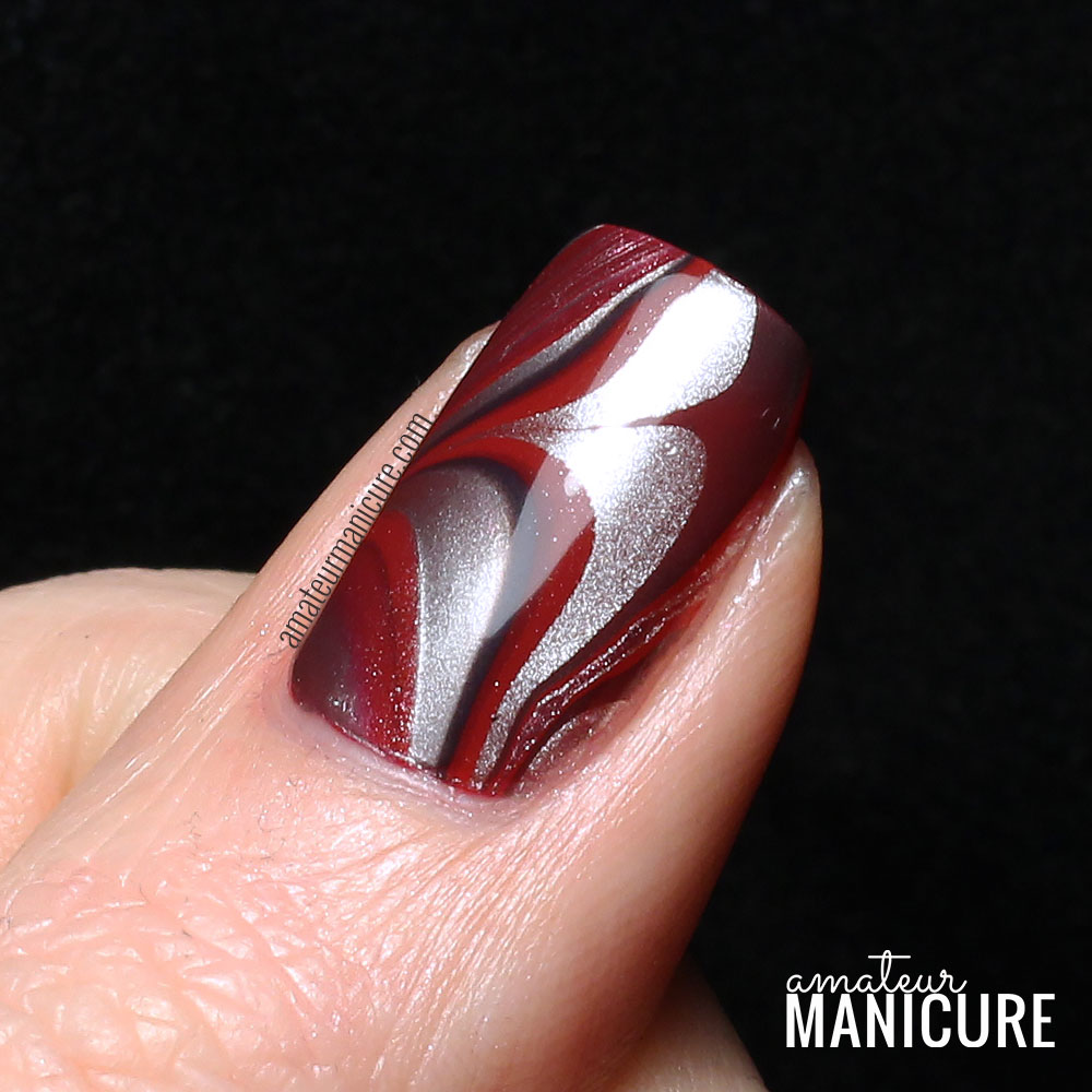 Nail Art Ideas » Red And Silver Nail Art - Pictures of Nail Art ...