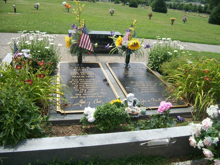 The Gravesite Of Johnny Cash And June Carter Hendersonville Memorial Gardens TN