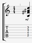 Bminor major 7 guitar chord