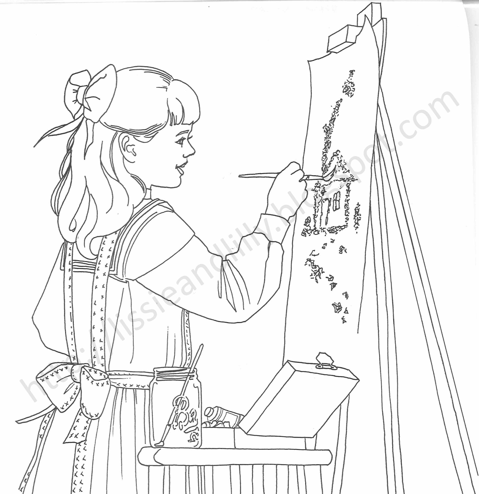 Lissie Lilly Coloring Pages Doll Palace