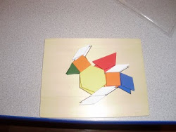 A bird made with Pattern Blocks