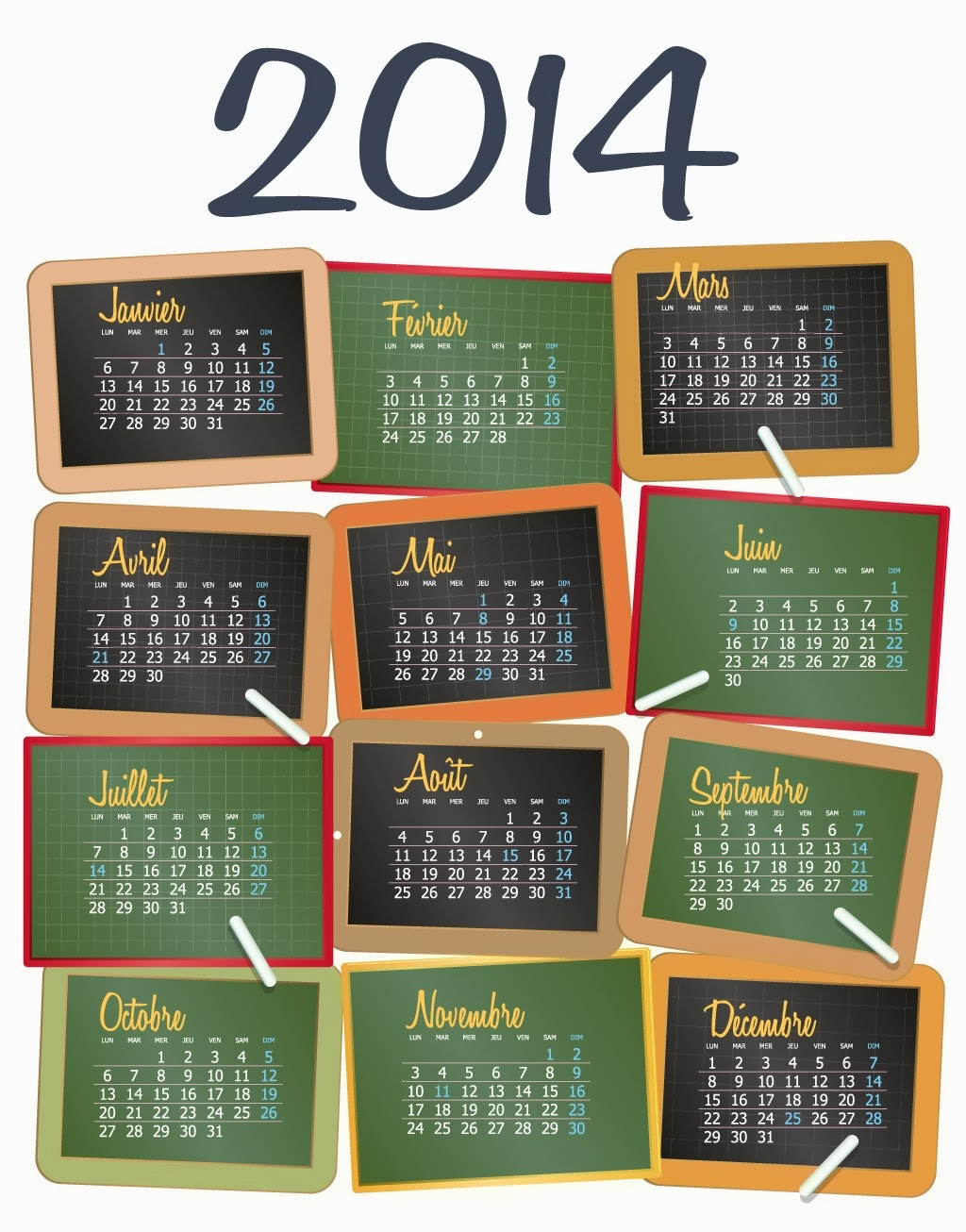 2014 monthly calendar desktop wallpaper - photo #39