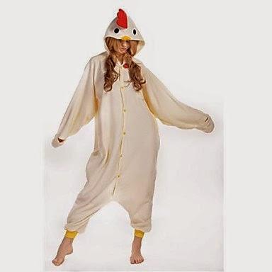 Disfraz Pijama con Capucha Gallina Blanca