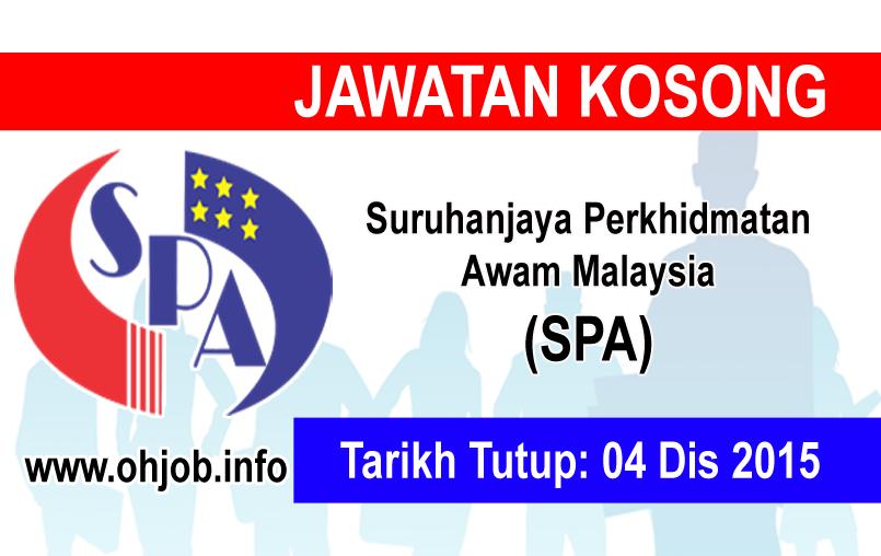 Jawatan Kerja Kosong Suruhanjaya Perkhidmatan Awam Malaysia (SPA) logo www.ohjob.info disember 2015