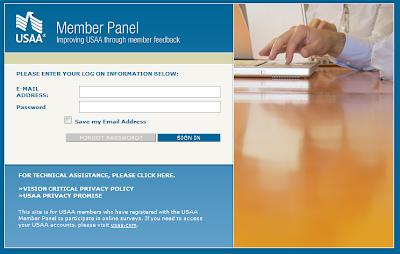 USAA member panel login