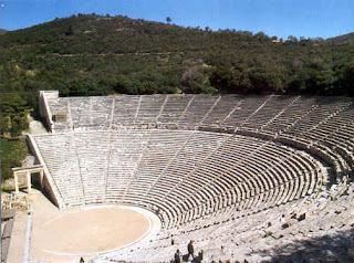 El Teatro de epidauro. los teatros griegos. el teatro en grecia. historia de grecia. arquitectura de grecia