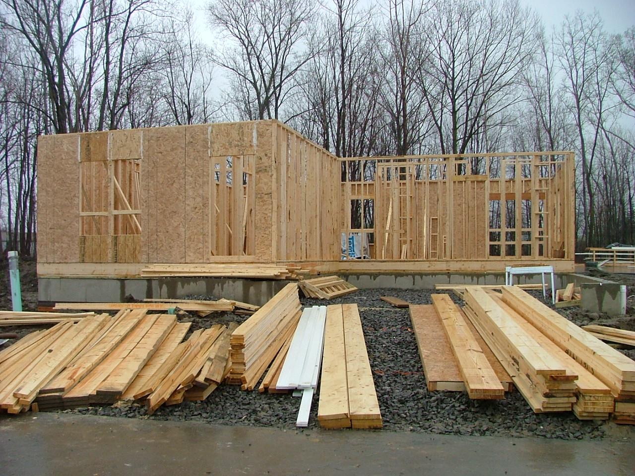 The milan journey lumber delivered and framing started for Decking boards delivered