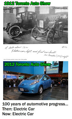 photo: 1912 Toronto auto show - electric car; 2012 Toronto Auto Show - electric car