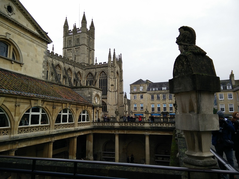 View of Bath Abbey from the baths