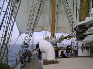 Setting out the Huge 'Course' Sail