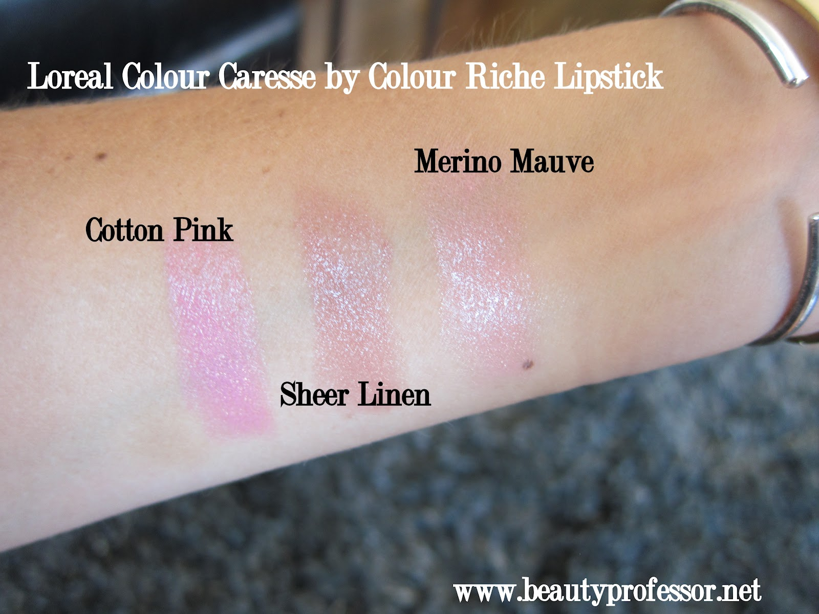 Loreal color caresse by color rich lipstick - These Lipsticks Are Sheer But Quite Pigmented