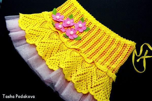 Patrones pollera crochet