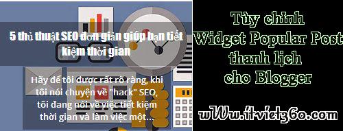 Tùy chỉnh widget Popular Posts thanh lịch cho Blogger