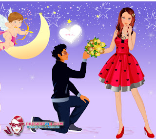 Valentine dating dress up