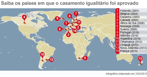 Veja quais países já aprovaram o casamento igualitário