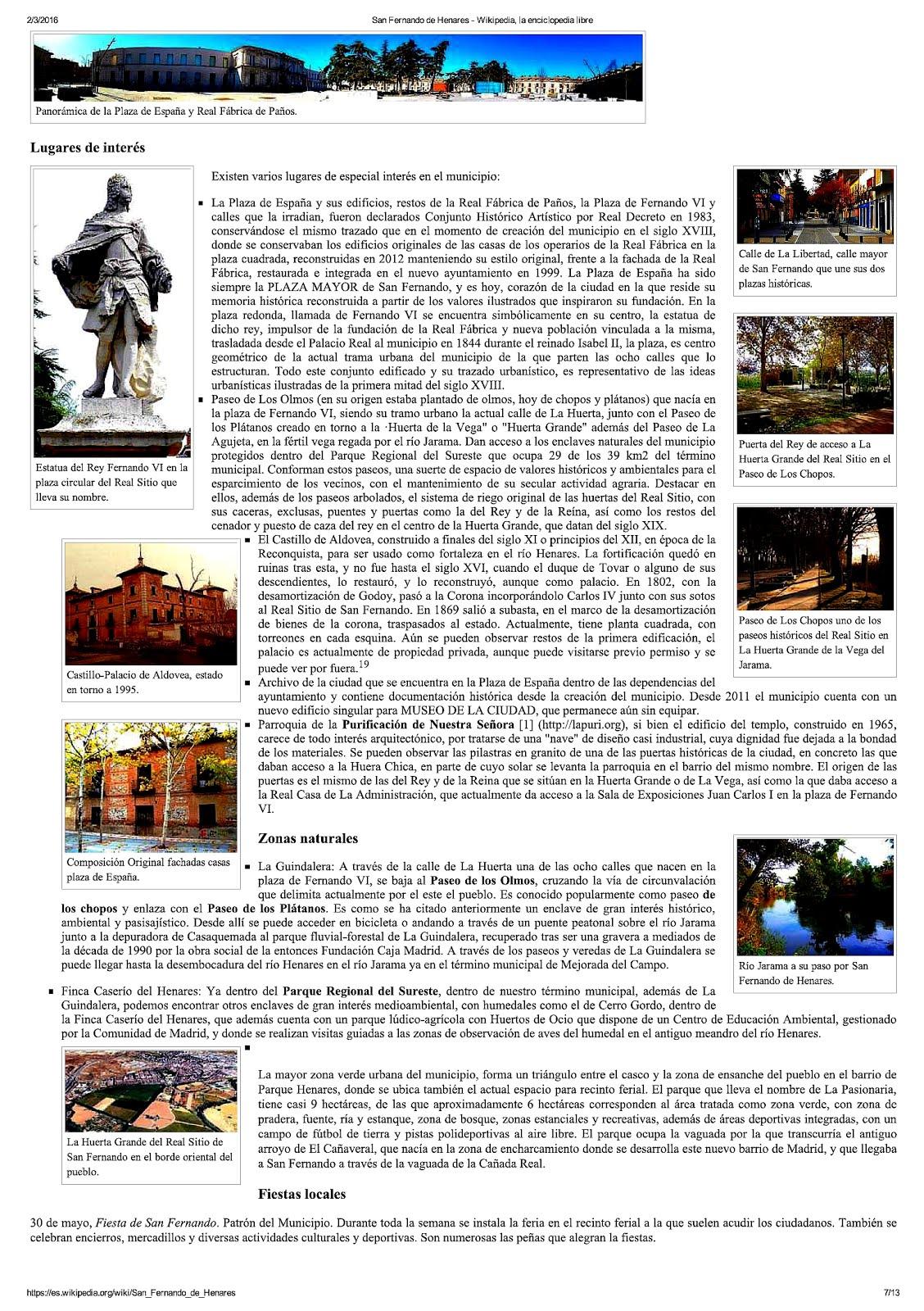 San Fernando en Wikipedia 2016.7