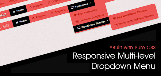 Pure CSS Based Multi Level Responsive Navigation Menu: BootM
