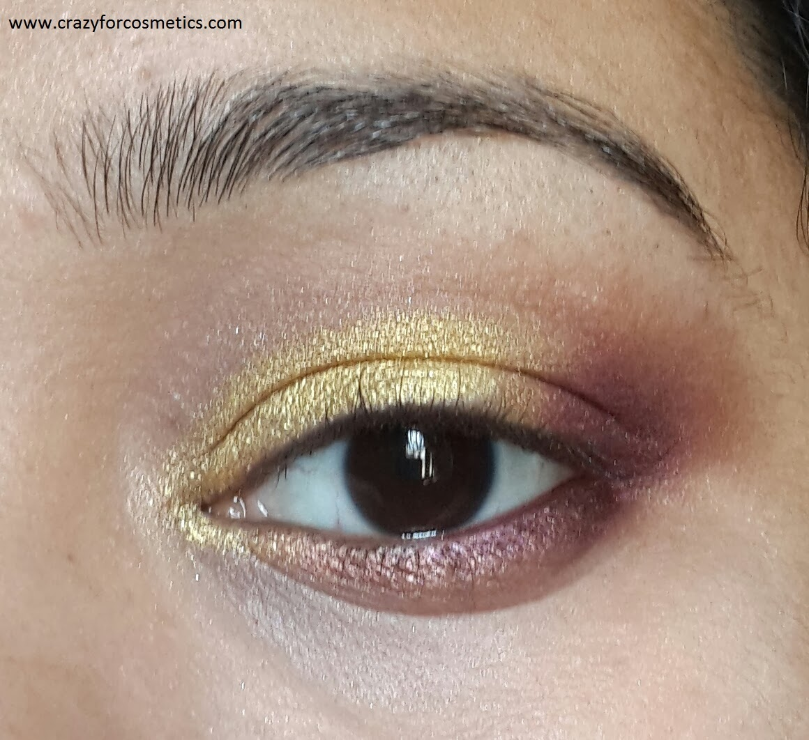 arabic eyeshadow tutorial-arabic golden eyeshadow look