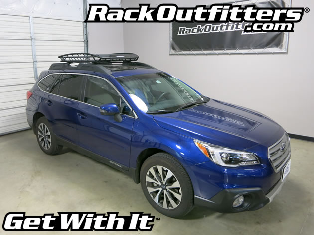 Subaru Outback Roof Rack Tool >> Subaru Outback With Thule 859 Canyon Roof Top Cargo Basket Rack