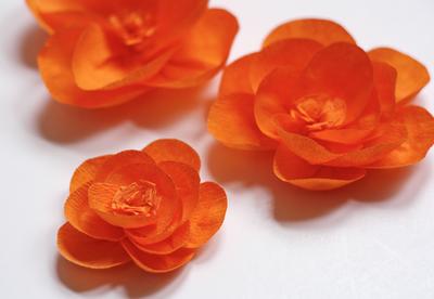 Flores de papel crepom - passo a passo